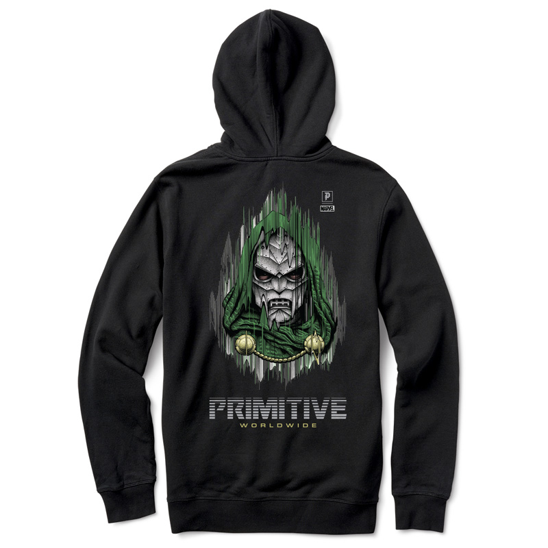 Primitive x Marvel x Paul Jackson Doom Hoodie Black