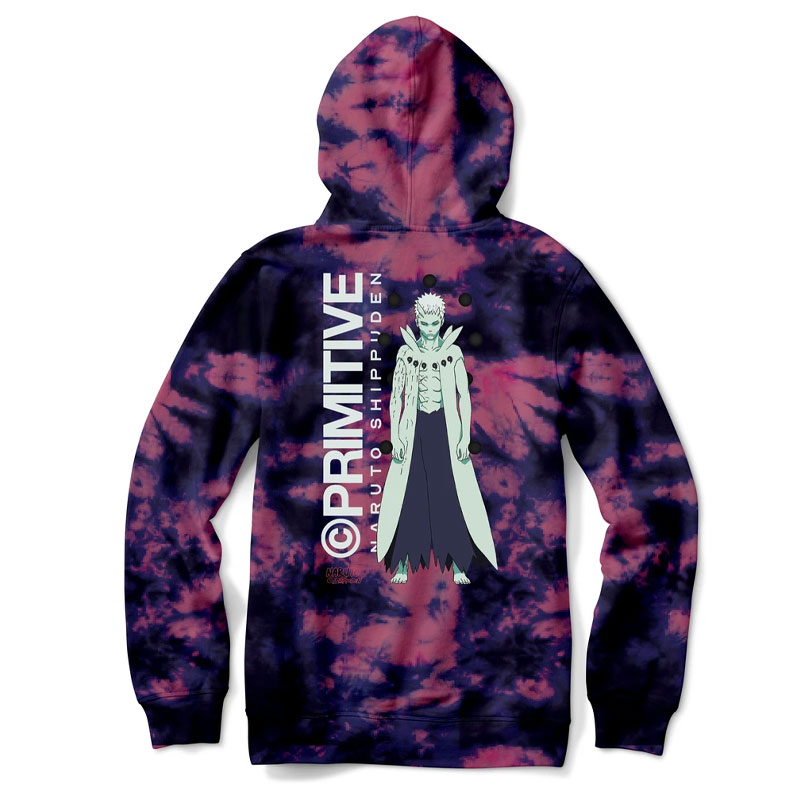 Primitive x Naruto Obito Washed Hoodie Cardinal