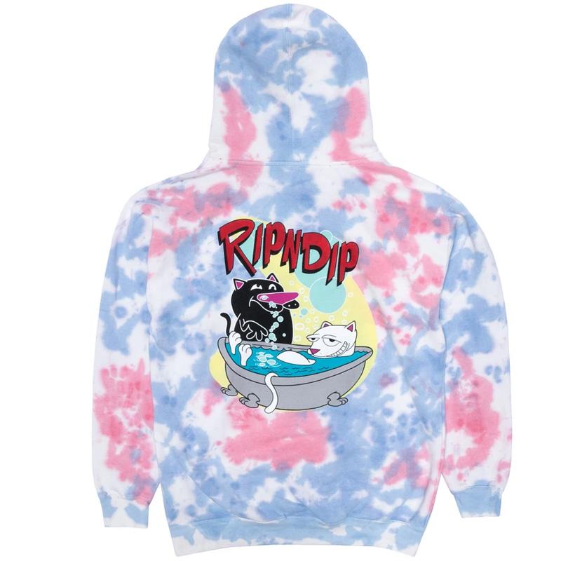 RIPNDIP Bath Time Hoodie Pink Tie Dye
