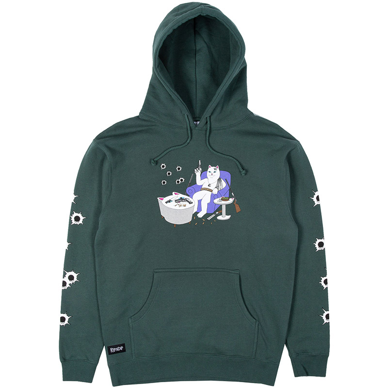 RIPNDIP Bullet Proof Hoodie Hunter Green