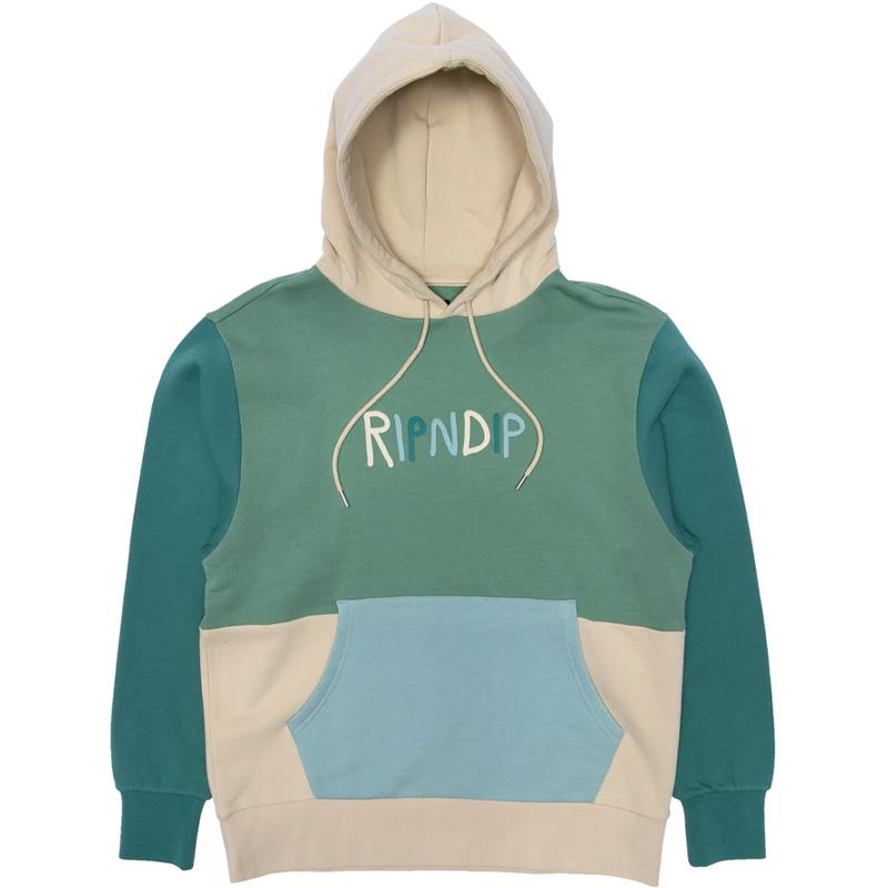 RIPNDIP Color Block Rubber Logo Hoodie