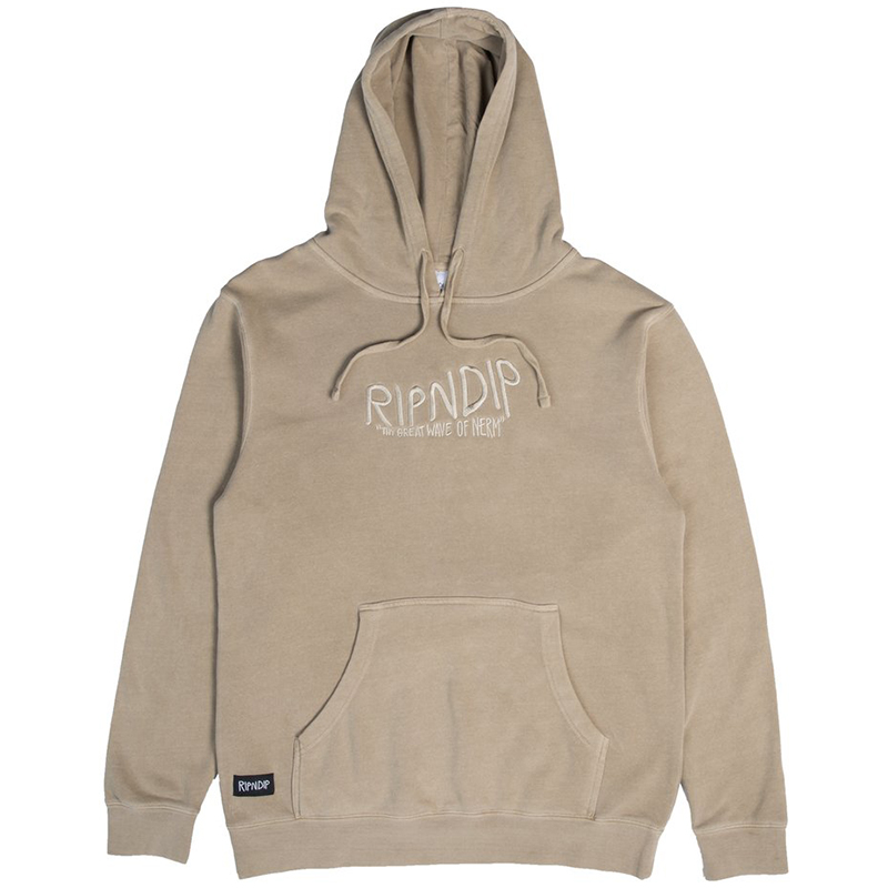 RIPNDIP Great Wave Of Nerm Hoodie Tan