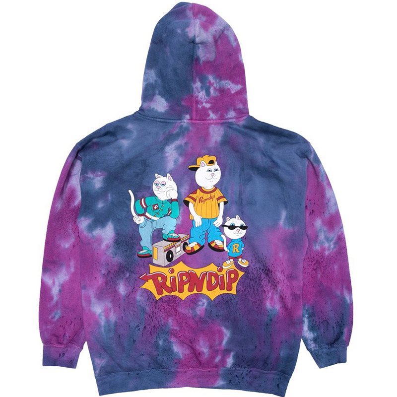 RIPNDIP Nerm And The Gang Hoodie Tie Dye