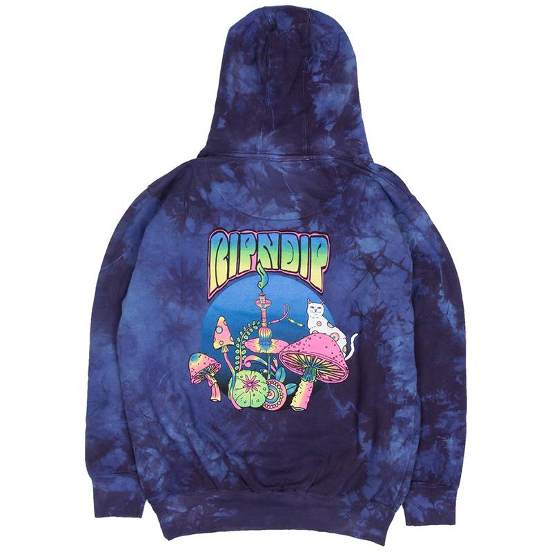 RIPNDIP Psychedelic Hoodie Purple Lightning Wash