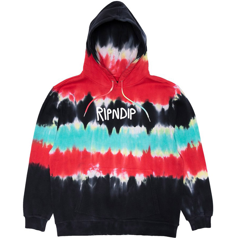 RIPNDIP Rubber Logo Hoodie Tie Dye