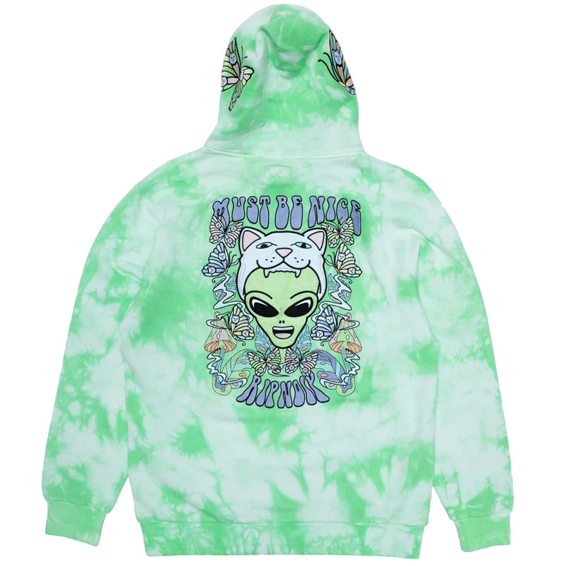 RIPNDIP Think Factory Embroidered Hoodie Mint Cloud Wash
