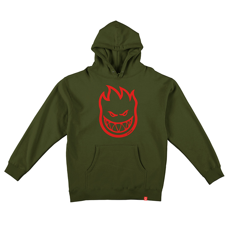 Spitfire Bighead Hoodie Army/Red