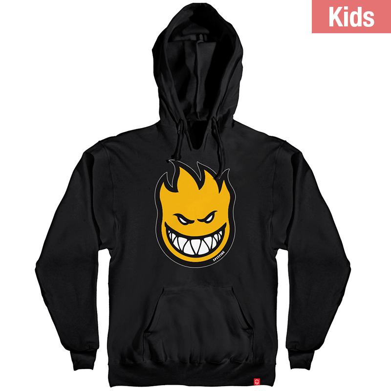 Spitfire Kids Bighead Fill Hoodie Black/Yellow