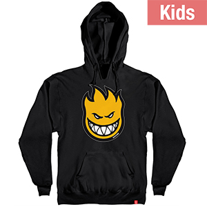 Spitfire Kids Bighead Fill Hoodie Black/Yellow