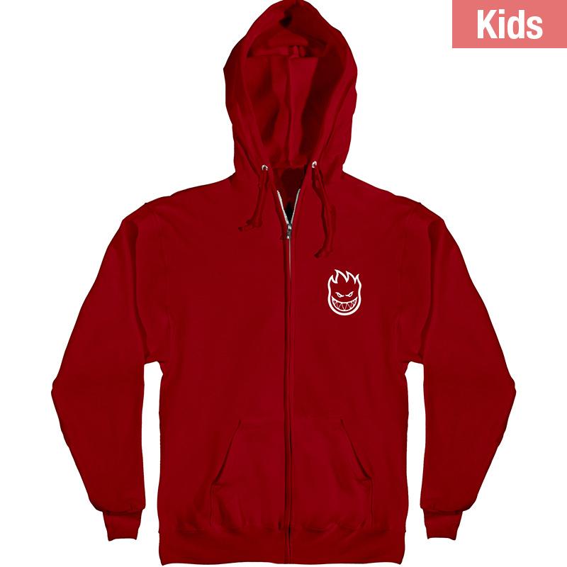 Spitfire Kids Classic Swirl Zip Hoodie Red