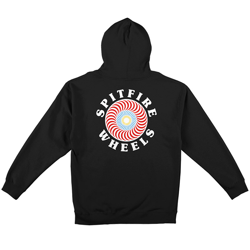 Spitfire Og Classic Fill Hooded Zip Up Sweatshirt Black/Multi