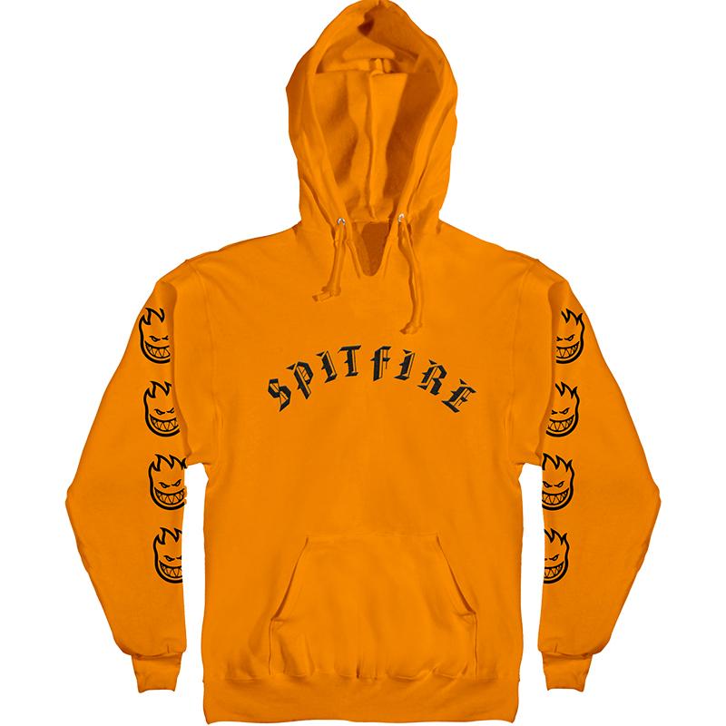 Spitfire Old E Hoodie Orange/Black