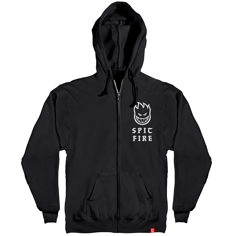Spitfire Steady Rockin Zip Hoodie Black/White