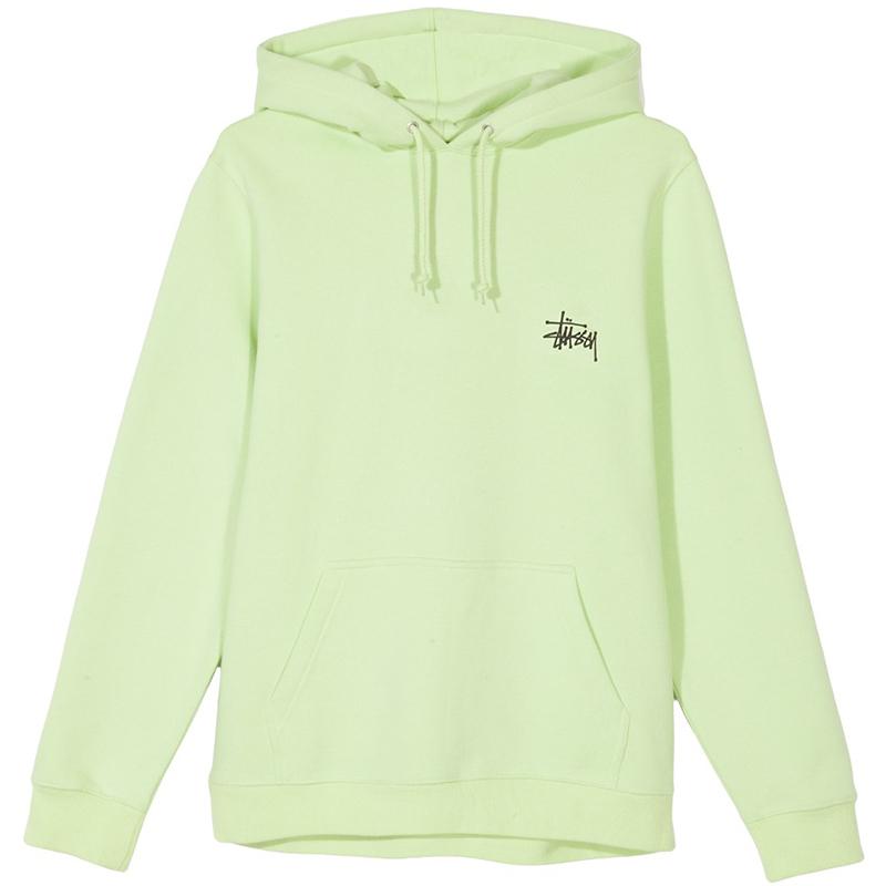 Stussy Basic Hoodie Pale Green