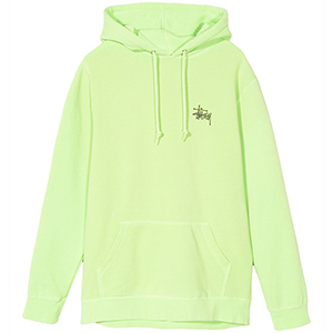 Stussy Basic Stussy Pig. Dyed Hoodie Green