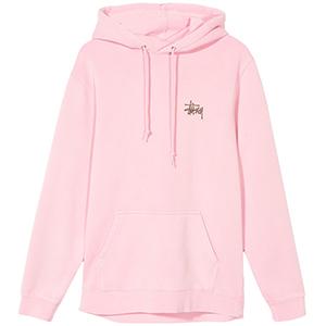 Stussy Basic Stussy Pig. Dyed Hoodie Pink