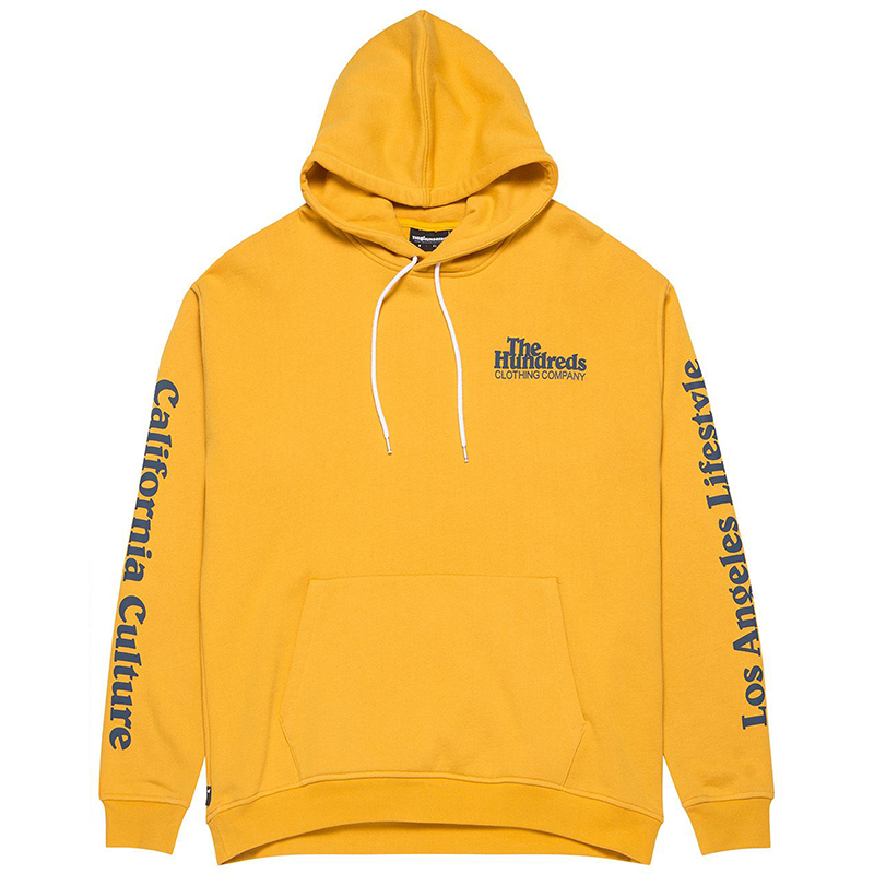The Hundreds Campbell Hooded Sweater Golden Yellow