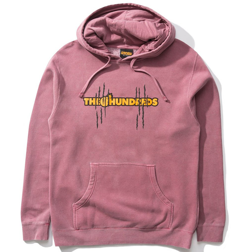 The Hundreds X Garfield Bar Hoodie Pigment Maroon