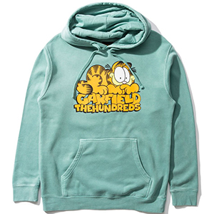 The Hundreds X Garfield Original Hoodie Pigment Mint
