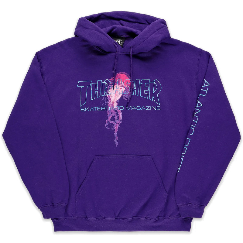 Thrasher Atlantic Drift Hoodie Purple