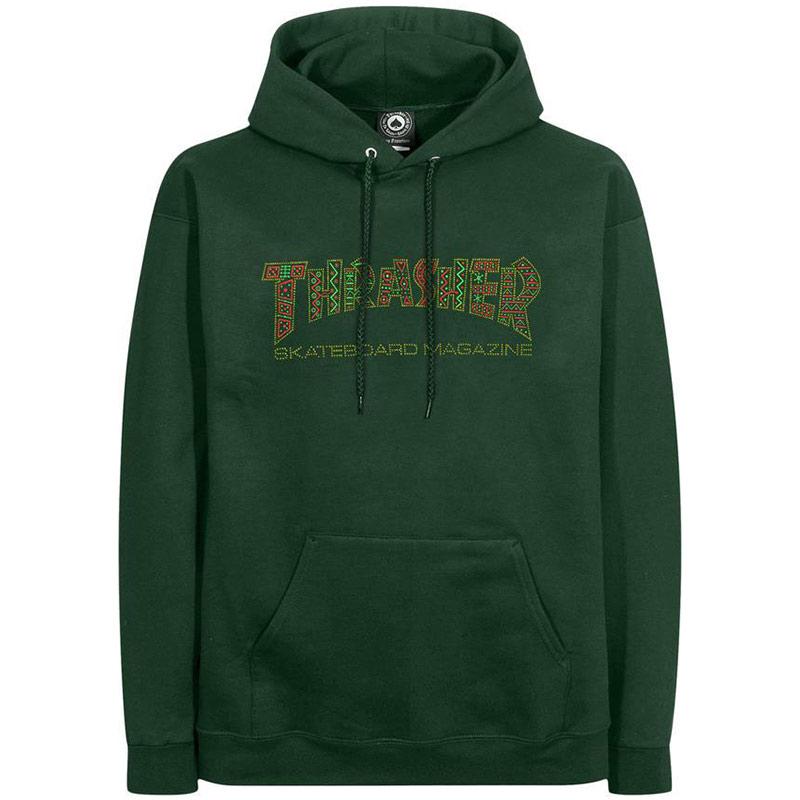 Thrasher Davis Hoodie Forest Green