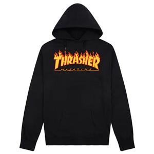 Thrasher Flame Hoodie Black