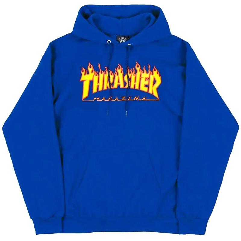 Thrasher Flame Hoodie Royal