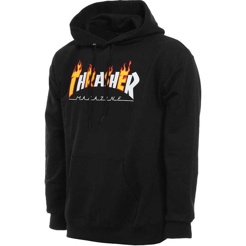 Thrasher Flame Mag Hoodie Black