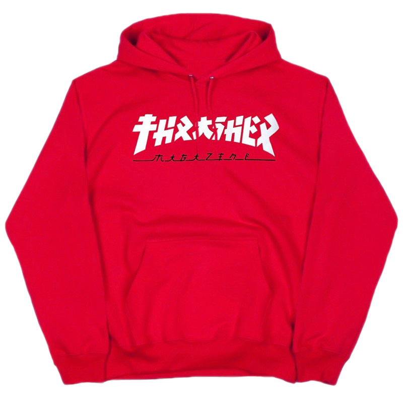 Thrasher Godzilla Hoodie Red