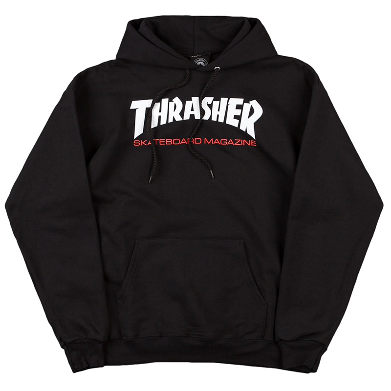 Thrasher Two-Tone Skate Mag Hoodie Black