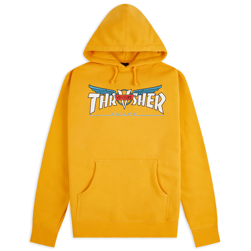 Thrasher x Venture Hoodie Gold