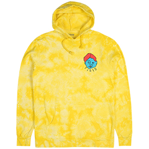 Tired Mangled Face Hoodie Yellow