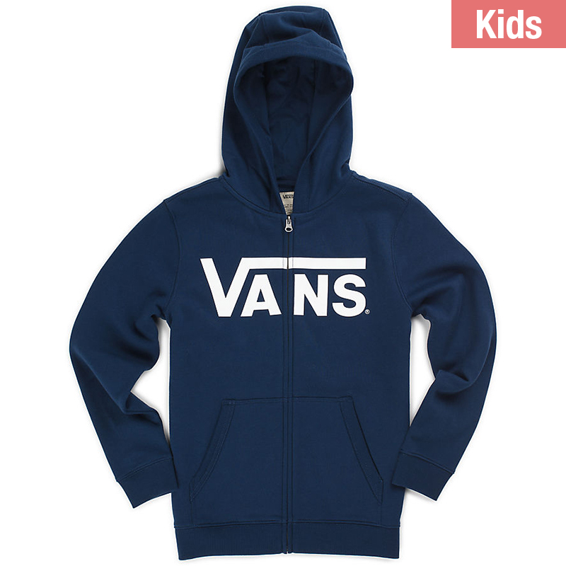 Vans Classic Zip Hoodie Dress Blues/Bright White