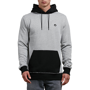 Volcom Single Stone Division Hoodie Grey
