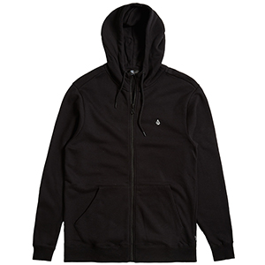 Volcom Single Stone Zip Hoodie Black