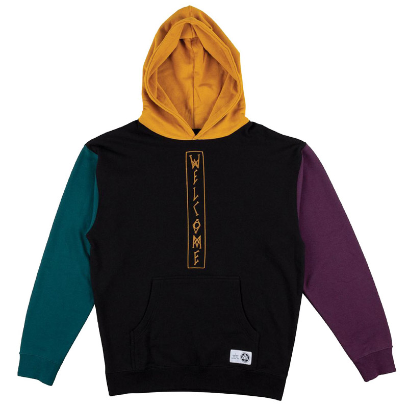 Welcome Quadrant French Terry Hoodie Black/Gold