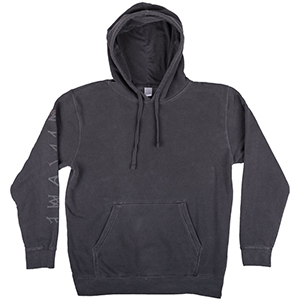 Welcome Tali-Scrawl Hoodie Pigment Dyed Black