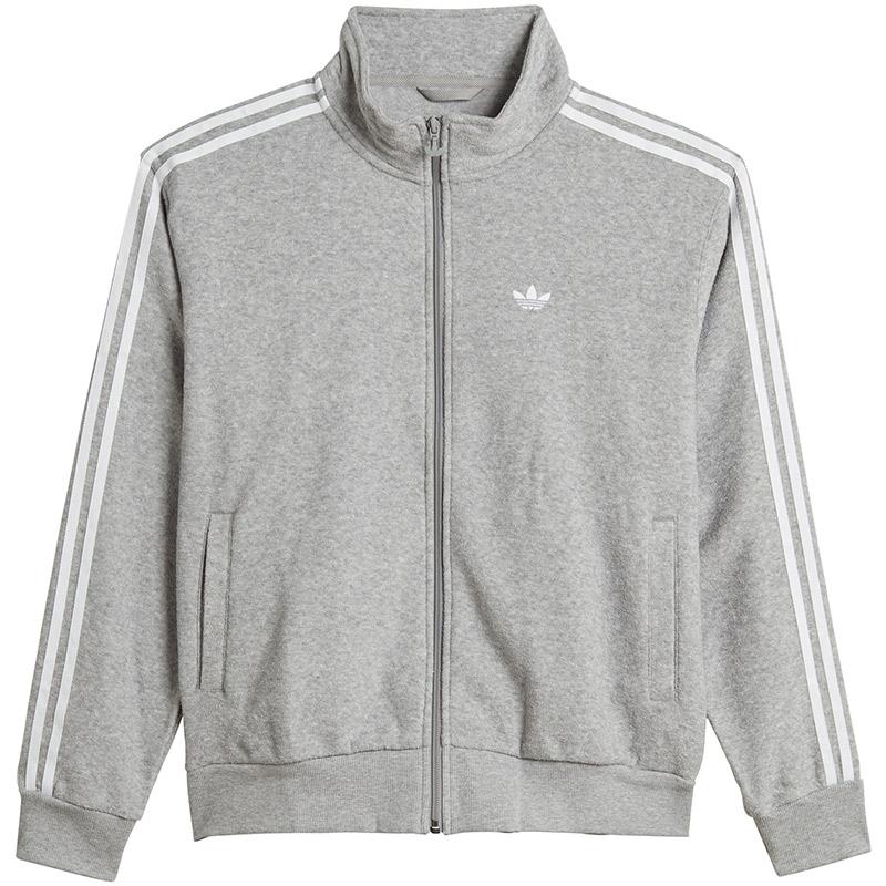 adidas Boucle Track Jacket Mgreyh/White