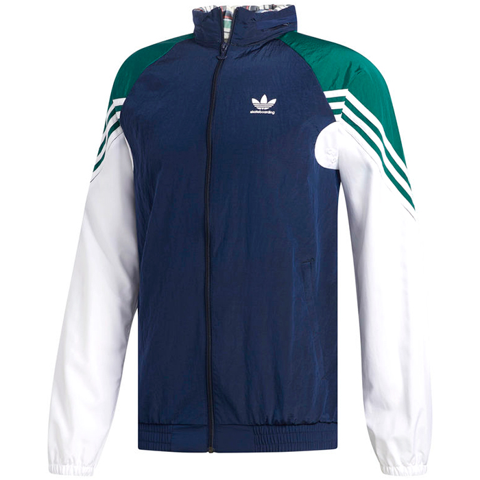 adidas Lightweight Zip Track Jacket Nindig/Cgreen/White