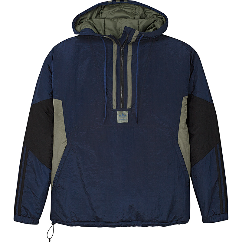 adidas Puffy Anorak Jacket Conavy/Black/Basgrn