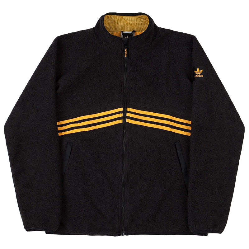 adidas Sherpa Full Zip Jacket Black/Actgol