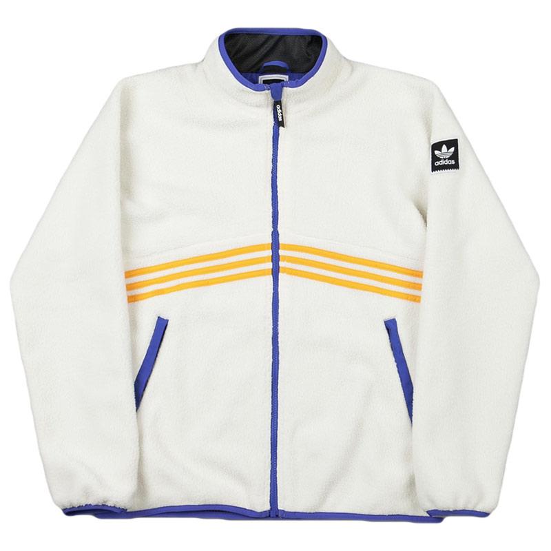 adidas Sherpa Full Zip Jacket Cwhite/Corang/Hirblu