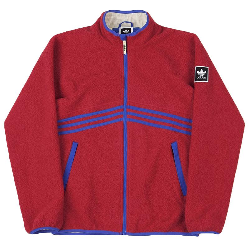 adidas Sherpa Full Zip Jacket Powred/Hirblu/Hazyel