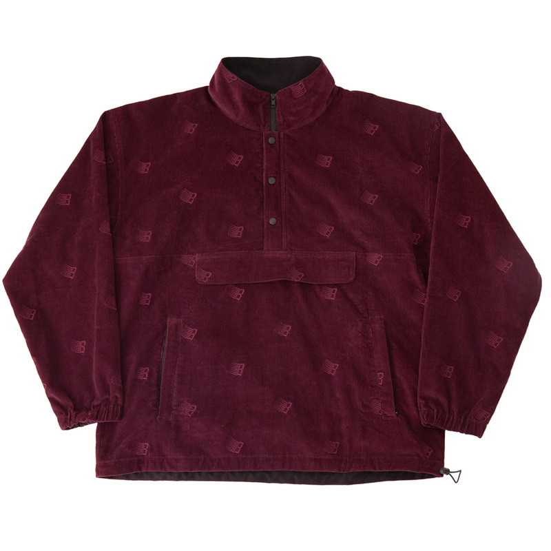 BRONZE 56K Allover Embroidered Anorak Maroon