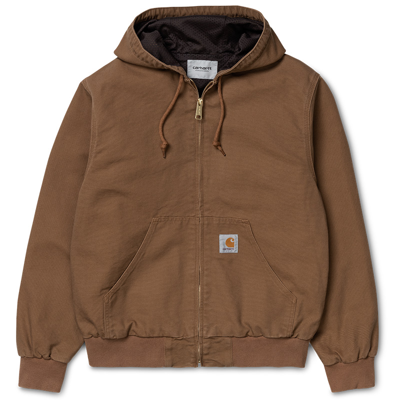 Carhartt WIP Active Jacket Hamilton Brown Rinsed