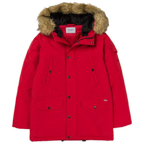Carhartt Anchorage Parka Jacket Blast Red/Black