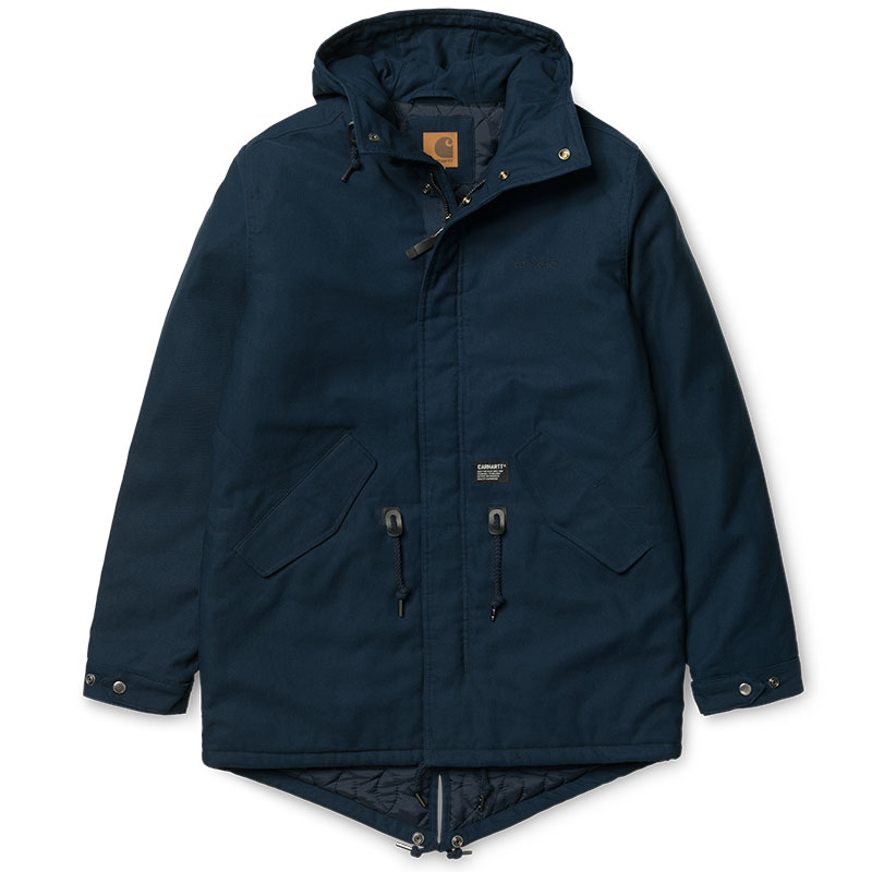 Carhartt Clash Parka Jacket Navy