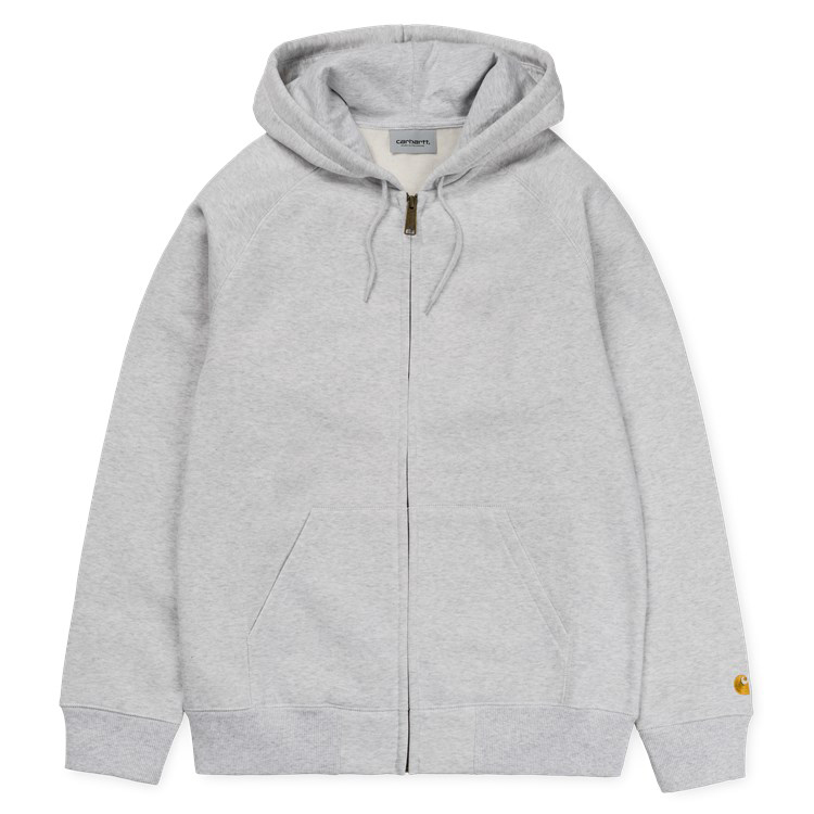 Carhartt Chase Zip Hoodie Ash Heather Gold