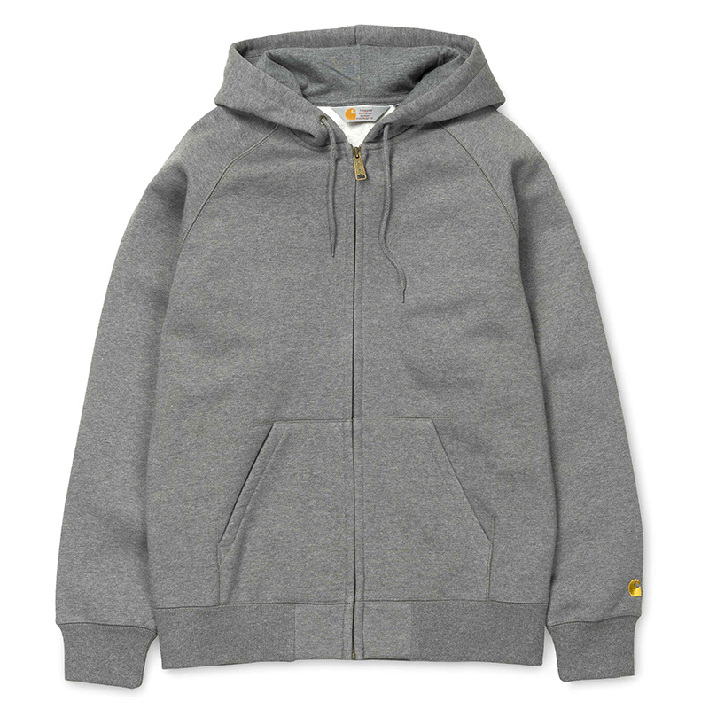 Carhartt Hooded Chase Jacket Dark Grey Heather