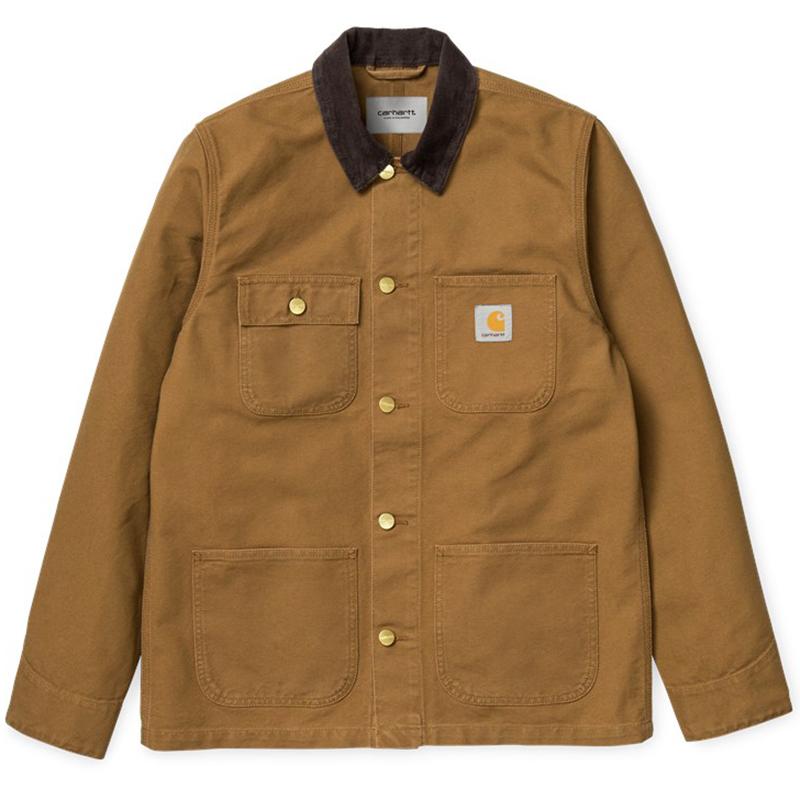 Carhartt Michigan Chore Coat Hamilton Brown/Tobacco Rinsed